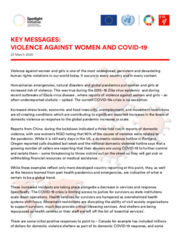 Violence against women and girls and COVID-19