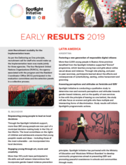 Spotlight Initiative early results report - November 2019